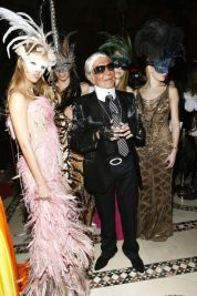 Roberto Cavalli as Karl Lagerfeld, 2007. Photo via Getty Images