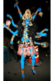 Heidi Klum as Hindu God Kali, 2008. Photo via Getty Images