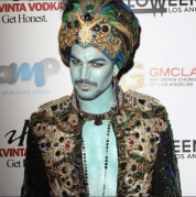 Adam Lambert as a Genie, 2013. Photo via Adam Lambert/ Instagram