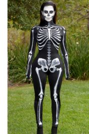 Kim Kardashian as a Skeleton, 2014. Photo via Getty Images