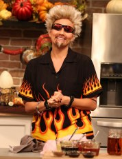 Chrissy Teigen as Guy Fieri, 2015. Photo via Disney/ABC Television