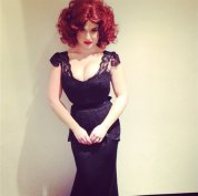 Kelly Osbourne as Christina Hendricks, 2013. Photo via Kelly Osbourne/ Instagram
