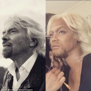 Tyra Banks as Richard Branson, 2015. Photo via Tyra Banks/ Instagram